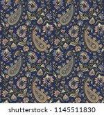 seamless paisley pattern | Shutterstock . vector #1145511830