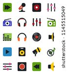 color and black flat icon set   ... | Shutterstock .eps vector #1145515049