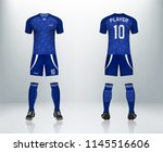 3d realistic mock up of front... | Shutterstock .eps vector #1145516606