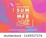 summer sale banner.unique... | Shutterstock .eps vector #1145517176