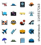 color and black flat icon set   ... | Shutterstock .eps vector #1145517263