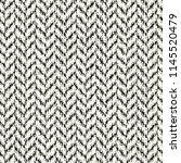 monochrome brushed herringbone... | Shutterstock .eps vector #1145520479
