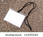 white badge on a cord on a... | Shutterstock . vector #11455243