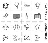set of 16 air outline icons... | Shutterstock .eps vector #1145527193