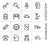 set of 16 automobile outline... | Shutterstock .eps vector #1145527229