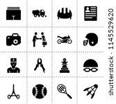 set of 16 professional filled... | Shutterstock .eps vector #1145529620