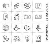 set of 16 technology outline... | Shutterstock .eps vector #1145529716