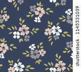 hand painted large scale floral ... | Shutterstock .eps vector #1145531039