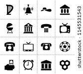 Set Of 16 Classic Filled Icons...
