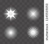 set of vector glowing light...   Shutterstock .eps vector #1145535053