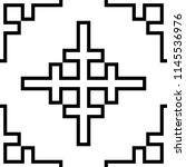 embroidery style pattern.... | Shutterstock .eps vector #1145536976