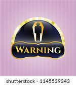 shiny badge with dead man in... | Shutterstock .eps vector #1145539343