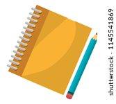 notebook school with pencil | Shutterstock .eps vector #1145541869