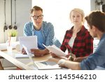 group of creative business... | Shutterstock . vector #1145546210