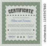 green certificate or diploma...   Shutterstock .eps vector #1145547860