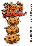 pack of three halloween... | Shutterstock .eps vector #1145552903