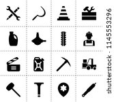 set of 16 industry filled icons ...   Shutterstock .eps vector #1145553296