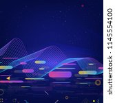 colorful technology background | Shutterstock .eps vector #1145554100