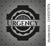urgency realistic black emblem | Shutterstock .eps vector #1145557076