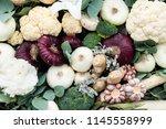 still life from the harvest of...   Shutterstock . vector #1145558999