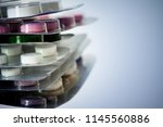 packs of pills with space for... | Shutterstock . vector #1145560886