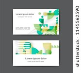 business card design with... | Shutterstock .eps vector #1145562590