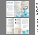 color tri fold business... | Shutterstock .eps vector #1145562599