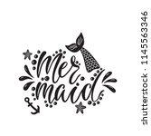 mermaid. handwritten...   Shutterstock .eps vector #1145563346