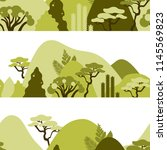 mountain hilly landscape with... | Shutterstock .eps vector #1145569823