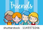 teens friends cartoon | Shutterstock .eps vector #1145573246