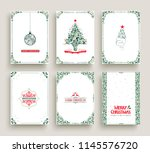 merry christmas set of vintage... | Shutterstock .eps vector #1145576720