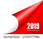 2019 new year is coming  turn... | Shutterstock .eps vector #1145577986