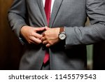 businessman getting ready for a ... | Shutterstock . vector #1145579543