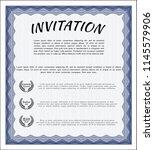 blue retro invitation. with... | Shutterstock .eps vector #1145579906