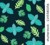 fresh green botanical seamless... | Shutterstock .eps vector #1145580356