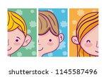 set of kids cartoons   Shutterstock .eps vector #1145587496