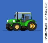 farm tractor icon vector... | Shutterstock .eps vector #1145589410