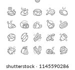 meat well crafted pixel perfect ... | Shutterstock .eps vector #1145590286