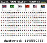all national flags of the world ... | Shutterstock .eps vector #1145592953