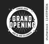 grand opening shop business...   Shutterstock .eps vector #1145595836