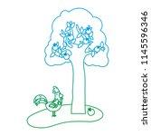 degraded line apple tree and...   Shutterstock .eps vector #1145596346