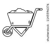 line construction sand inside... | Shutterstock .eps vector #1145596376
