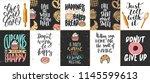 set of vector bakery lettering... | Shutterstock .eps vector #1145599613