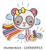 cute and lovely animals card   Shutterstock .eps vector #1145605913