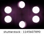 six round ceiling or wall lamps.... | Shutterstock . vector #1145607890