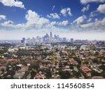 sydney city cbd aerial view... | Shutterstock . vector #114560854