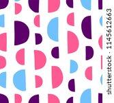 semicircle seamless vector... | Shutterstock .eps vector #1145612663