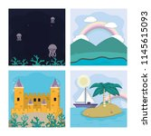 set of magic scenery | Shutterstock .eps vector #1145615093