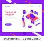 technical support people and... | Shutterstock .eps vector #1145623550