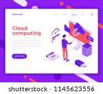 cloud computing people and...   Shutterstock .eps vector #1145623556